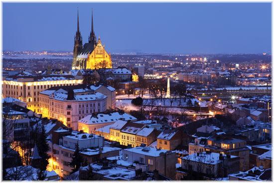 Brno at night